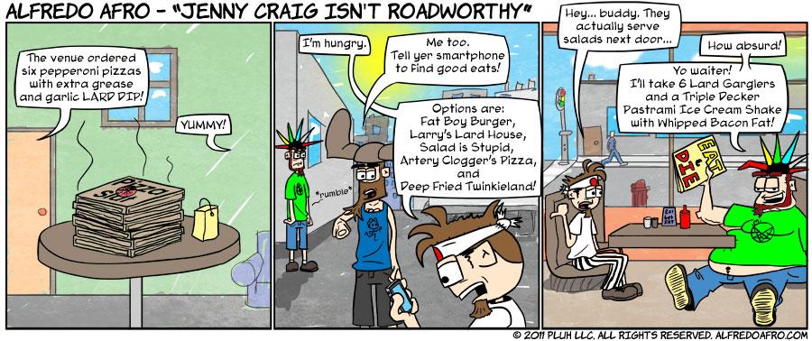 Jenny Craig isn't Roadworthy