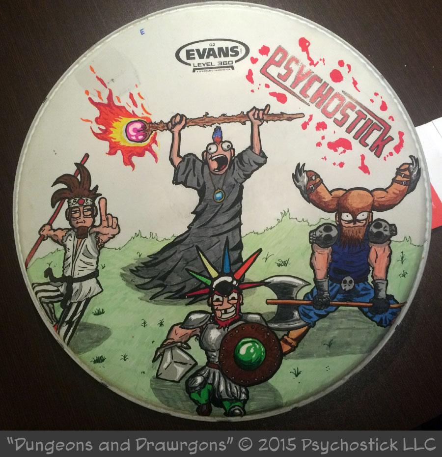 Dungeons & Drawrgons Drumhead