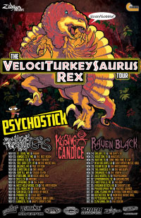 The Velociturkeysaurus Rex Tour with Dates