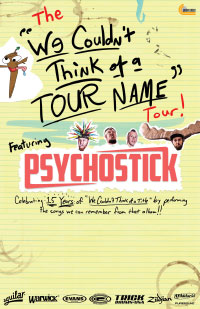 The We Couldn't Think of a Tour name blank
